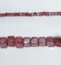 Glass Cubes Strands 6mm- Pink (Trans)