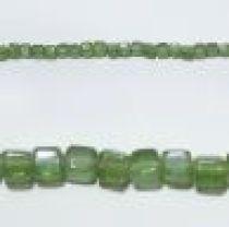 Glass Cubes Strands 6mm-Peridot