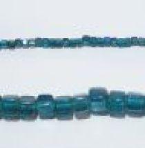Glass Cubes Strands 6mm-Teal