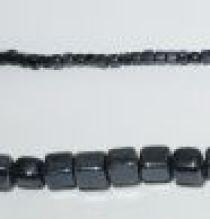 Glass Cubes Strands 8mm-Black