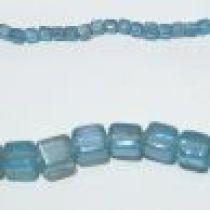 Glass Cubes Strands 8mm- Aqua(trans))
