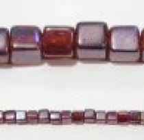 Glass Cubes Strands 5mm-Teal