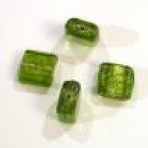 Foil Beads- 13m Square Peridot