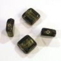 Foil Beads- 13m Square Smoky