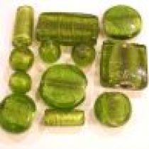 Foil Beads Mix -Peridot