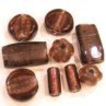 Foil Beads Mix -Lilac