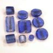 Foil Beads Mix -Sapphire