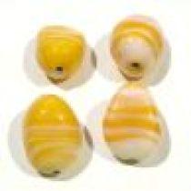 Waxy Nugget Beads 17x12m-Yellow