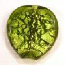 Foil Beads- Heart 40mm-Peridot