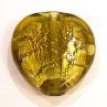 Foil Beads- Heart 40mm-Amber