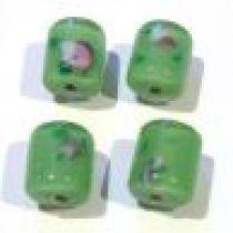 Lampwork Glass Beads -Tubes-Peridot