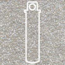 Miyuki Size 15 Silver Line Round - Crystal - 15-91-TB