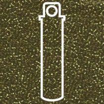 Miyuki Size 15 Silver Line Round - Emerald - 15-91422-TB