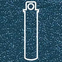 Miyuki Size 15 Silver Line Round - Blue Zircon - 15-91425-TB