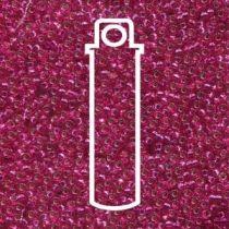 Miyuki Size 15 Silver Line Round - Rasberry Transparent- 15-91436-TB