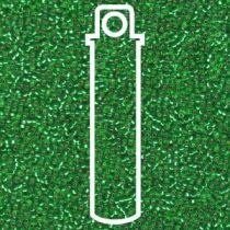 Miyuki Size 15 Silver Line Round - Lt. Green -15 -916-TB