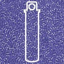 Miyuki Size 15 Silver Line Semi Matte Round -Cobalt- 15-91656-TB