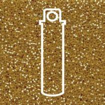 Miyuki Size 15 Silver Line Matte Round -Gold- 15-93F-TB