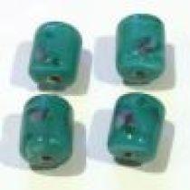 Lampwork Glass Beads Tubes -Dark Green