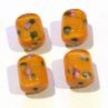 Lampwork Glass Beads Tubes -Orange
