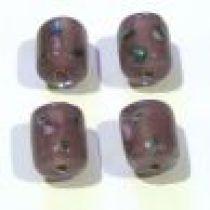 Lampwork Glass Beads Tubes -Purple