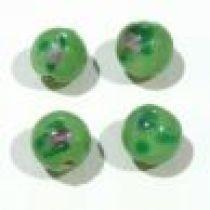 Lampwork Glass Beads Round-8m-Peridot