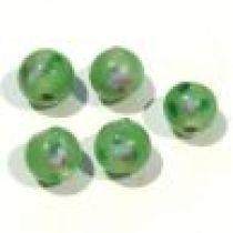 Lampwork Glass Beads Round-6m-Peridot