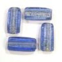 Foil beads Rectangles 25x12x8mm-Sapphire