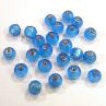 Foil Beads Round -6mm-Dark Blue
