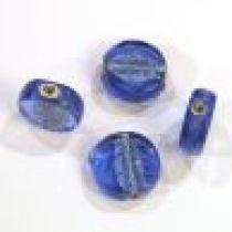 Foil Beads Flat Disc-14mm- Sapphire