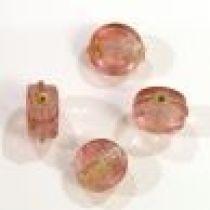 Foil Beads Flat Disc-10mm-Pink