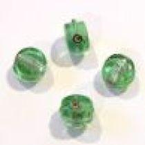 Foil Beads Flat Disc-10mm-Lt.Green