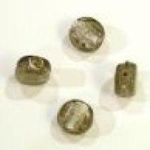 Foil Beads Flat Disc-10mm- Smoky