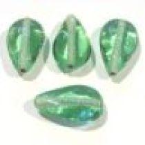 Glass Flat Pear Bead 20x11x7-Lt.Green