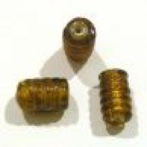 FOIL BEADS SPIRAL Tube- 13mm Amber