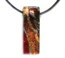 DICHORIC GLASS - Pendants -Red