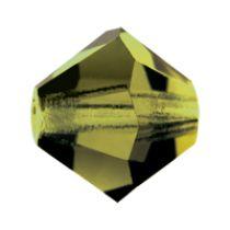 Preciosa® Crystal Bicone Beads Olivine