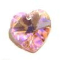 Swarovski Pendants Heart - 10mm Lt.Rose AB