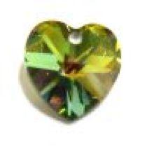 Swarovski Pendants Heart - 14mm Vitrail Medium