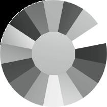Swarovski Crystal Flatback No Hotfix 2034 Concise Flat Back SS-10 ( 2.80mm) - Crystal Light Chrome (F) -  1440 Pcs