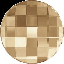 Swarovski Crystal Flatback No Hotfix 2035 Chessboard Circle Flat Back (10 mm) - Crystal Golden Shadow (F) -  192 Pcs