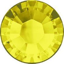 Swarovski Crystal Flatback Hotfix 2038 SS-8 ( 2.35mm) - ᅠCitrine  (F)- 1440 Pcs