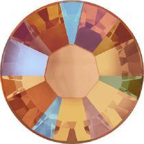 Swarovski Crystal Flatback Hotfix 2038 SS-6 ( 1.95mm) - Tangerine Shimmer  (F)- 1440 Pcs