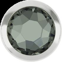 Swarovski Crystal Flatback Hotfix 2078 H Rimmed Flat Back SS-16  ( 3.90mm)  Black Diamond SR (F) -  1440 Pcs