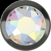 Swarovski Crystal Flatback Hotfix 2078 H Rimmed Flat Back SS-16  ( 3.90mm)  Crystal Aurore Boreale GM (F) -  1440 Pcs