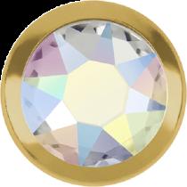 Swarovski Crystal Flatback Hotfix 2078 H Rimmed Flat Back SS-16  ( 3.90mm)  Crystal Aurore Boreale GR (F) -  1440 Pcs
