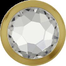 Swarovski Crystal Flatback Hotfix 2078 H Rimmed Flat Back SS-34  ( 7.17mm)  Crystal GR (F) -  144 Pcs
