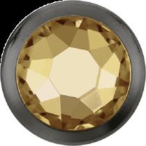 Swarovski Crystal Flatback Hotfix 2078 H Rimmed Flat Back SS-16  ( 3.90mm)  Crystal Golden Shadow GM (F) -  1440 Pcs