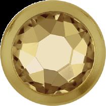 Swarovski Crystal Flatback Hotfix 2078 H Rimmed Flat Back SS-16  ( 3.90mm)  Crystal Golden Shadow GR (F) -  1440 Pcs
