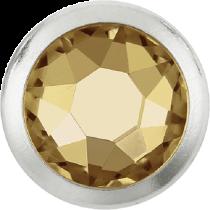 Swarovski Crystal Flatback Hotfix 2078 H Rimmed Flat Back SS-16  ( 3.90mm)  Crystal Golden Shadow SR (F) -  1440 Pcs